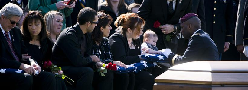 Funeral service for U.S. Army Green Beret KIA