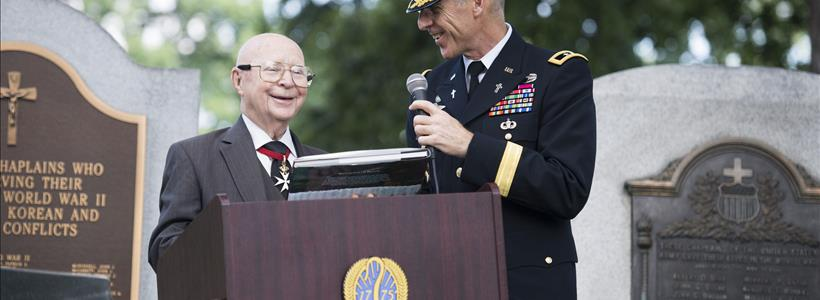 U.S. Army chief of chaplains at ceremony honoring 241st Anniversary of the Chaplain Corps