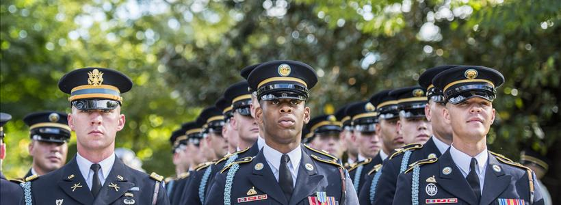 Soldiers from The 3d U.S. Infantry Regiment (The Old Guard) Support an Armed Forces Full Honors Wreath-Laying Ceremony