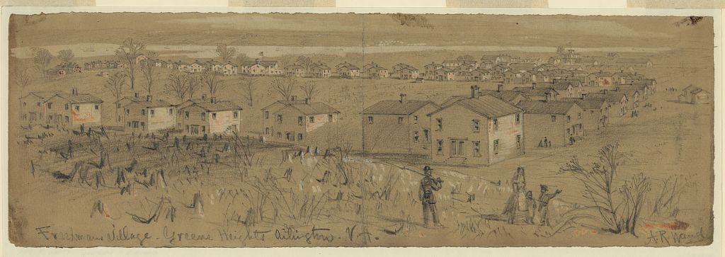 April 1864 drawing of Freedman's Village