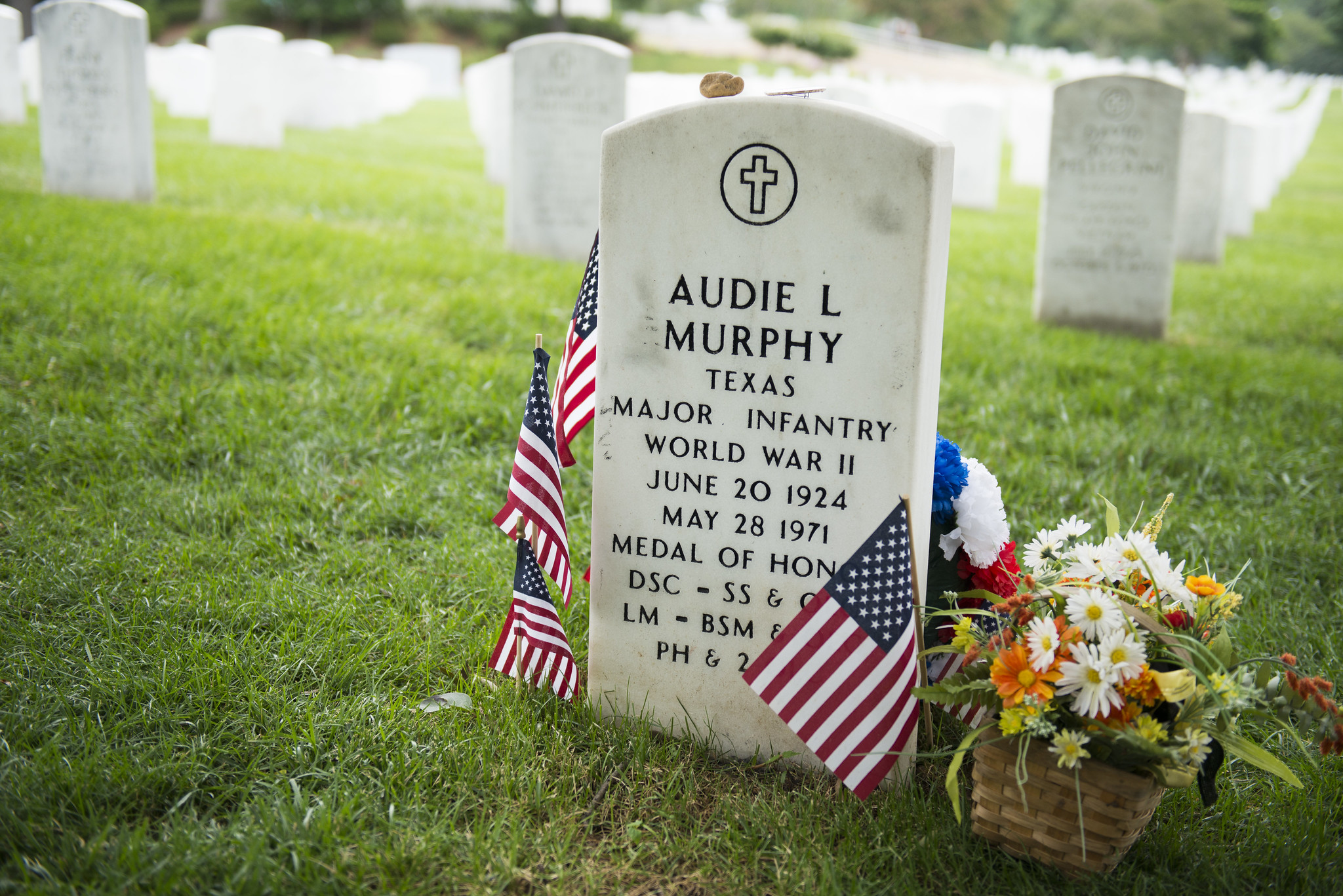 Gravesite of Medal of Honor recipient and actor Audie Murphy