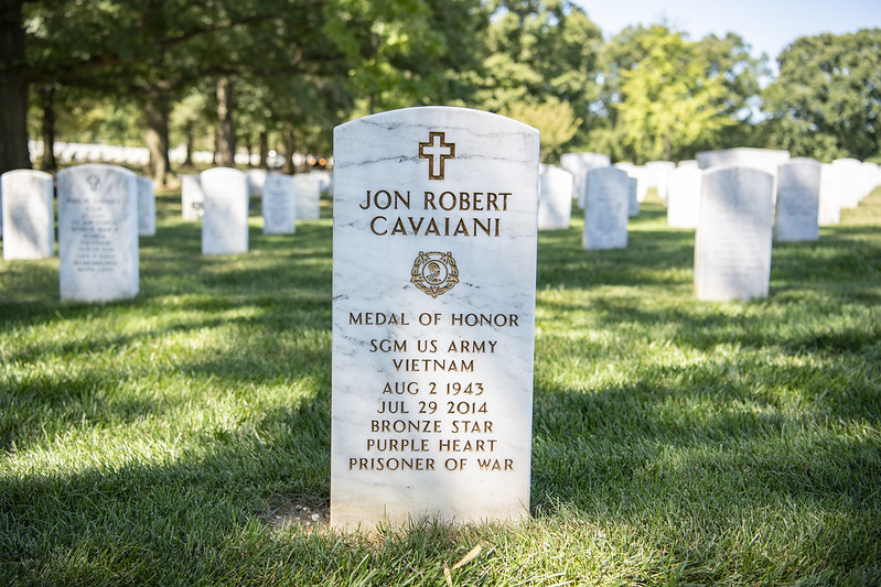 headstone of Medal of Honor recipient Jon R. Cavaiani