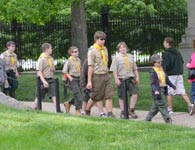 Boy Scout Tour Group