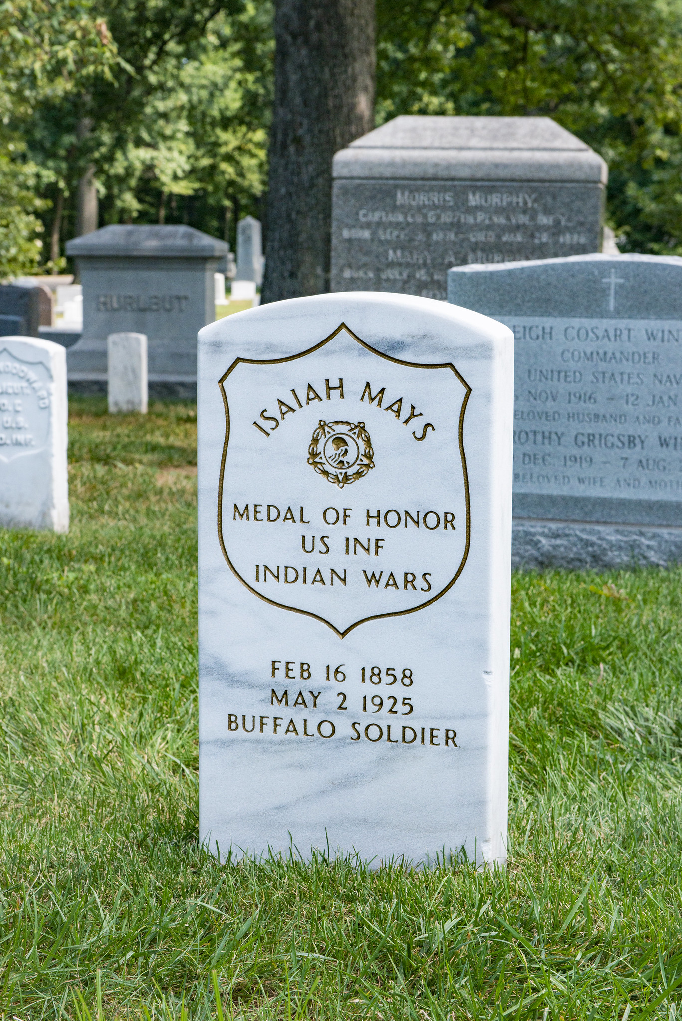 Gravesite of Isaiah Mays, one of two African Americans to receive the Medal of Honor during the Indian Wars