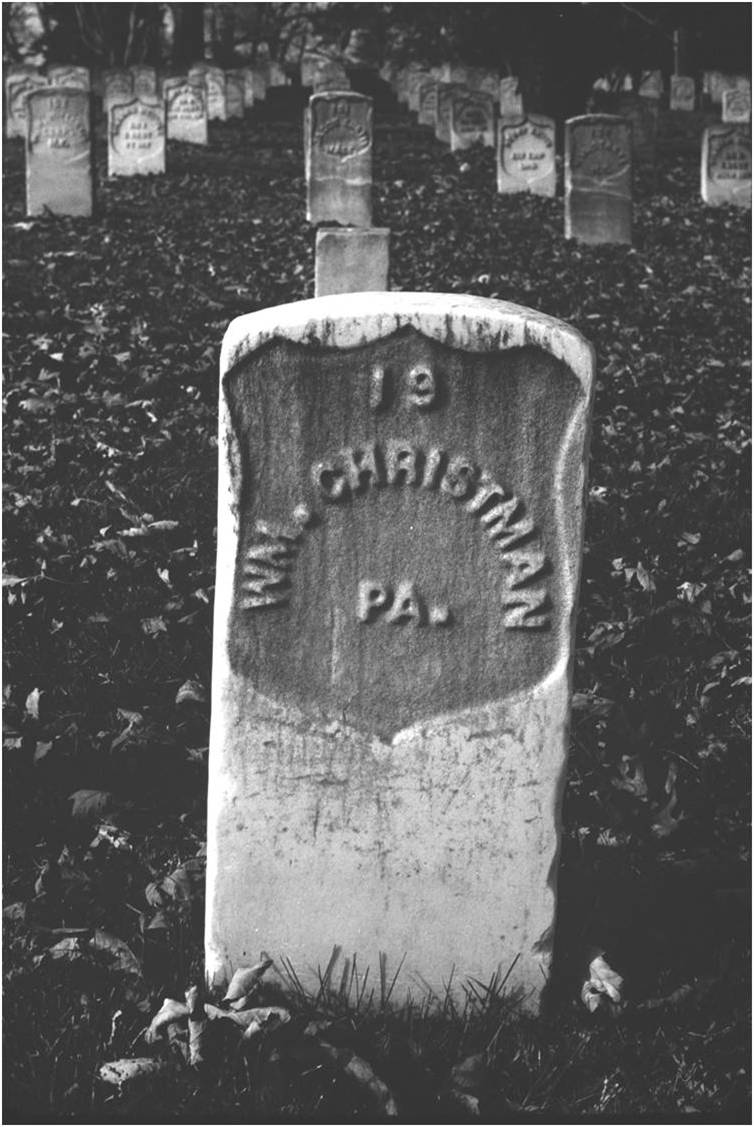 gravesite of William Christman, first military burial at Arlington National Cemetery