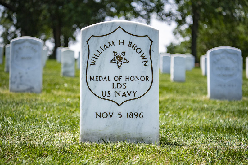 gravesite of Medal of Honor recipient William H. Brown, U.S. Navy, in Section 27