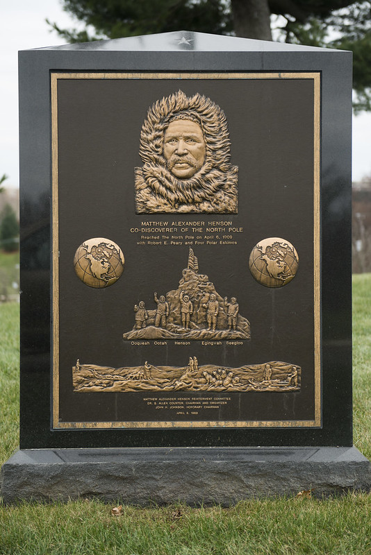 Gravestone of Matthew Henson, one of the first explorers to reach the North Pole