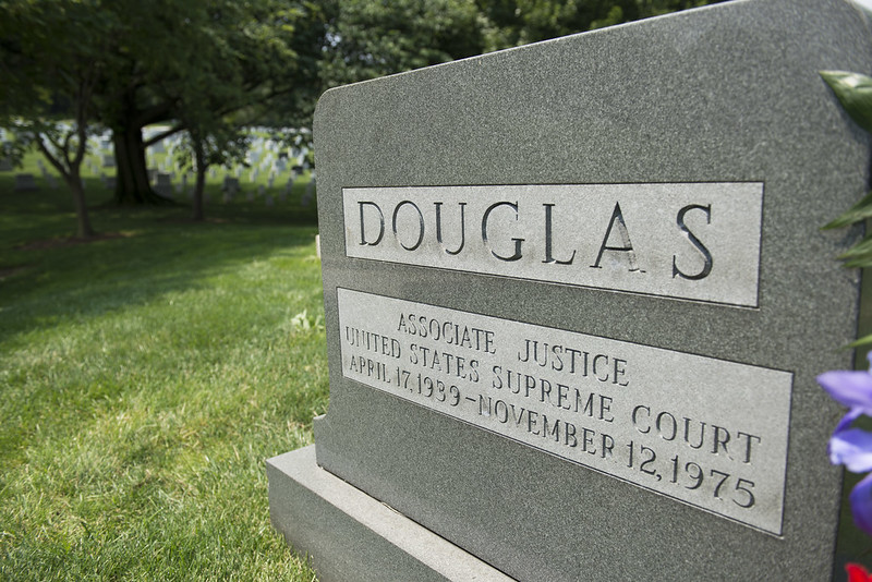 Gravestone of Supreme Court Justice William O. Douglas