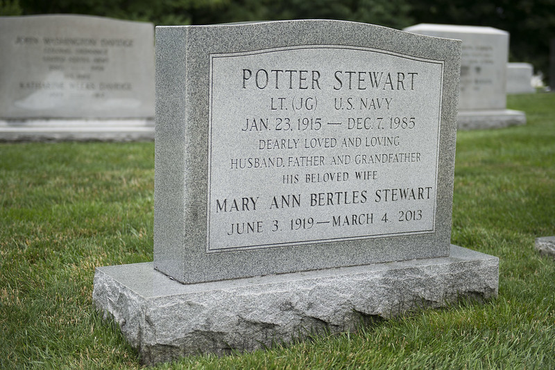 Gravestone of Supreme Court Justice Potter Stewart