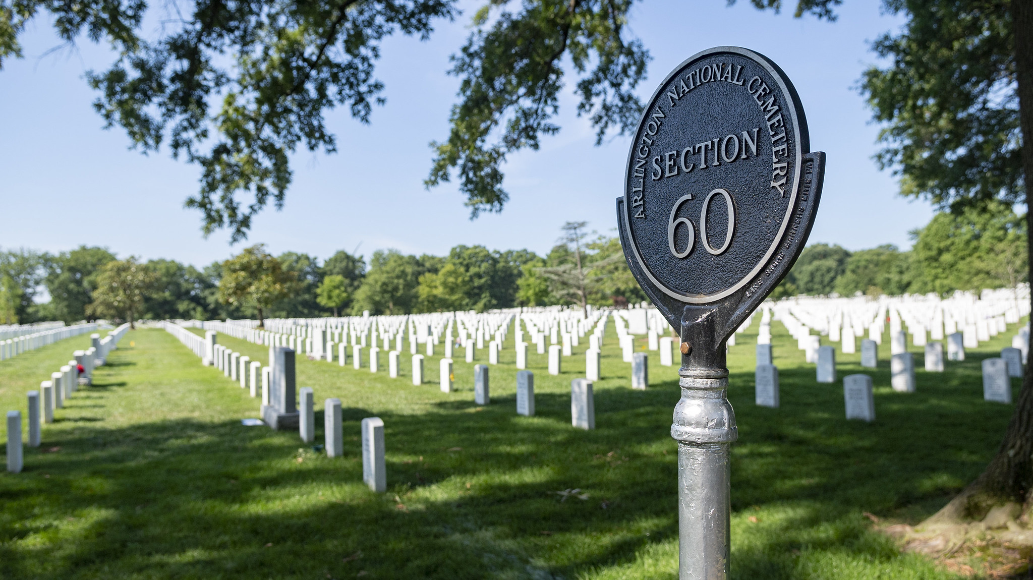 Section 60 of Arlington National Cemetery, where many veterans of recent wars are buried